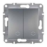 Выключатель SCHNEIDER ASFORA EPH0600162 переключатель 2кл. сталь