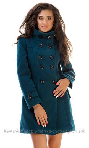 Пальто женское высокий ворот