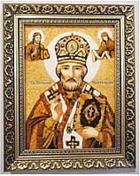 Ікона Микола з ажурною рамою розмір 20*30