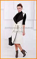 Женское пальто без рукавов | Женская удлиненная жилетка