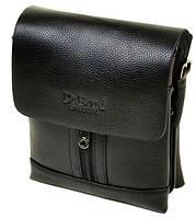 Чоловіча сумка dr.Bond 88282-2 чорна зі штучної шкіри 19 см 24 см на 6 см, фото 1