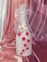Свадебное шампанское декорированное
