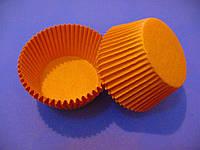 Тарталетки (капсулы) бумажные для кексов, капкейков  Оранжевые