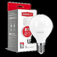 Светодиодная лампа MAXUS 8Вт G45 F E14