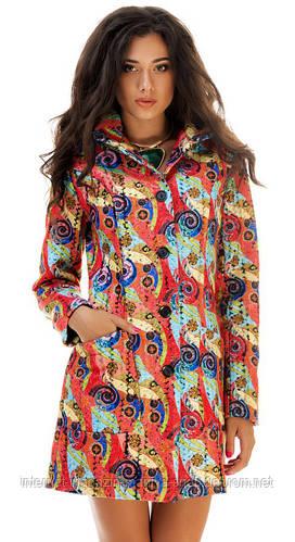 Пальто женское узор