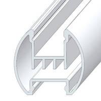 Профиль алюминиевый для освещения картин, анодированный, цвет серебро