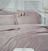 Постельное белье Deco Bianca сатин жаккард lila лиловое евро
