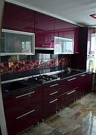 Кухня  с крашеными фасадами из МДФ, фото 1