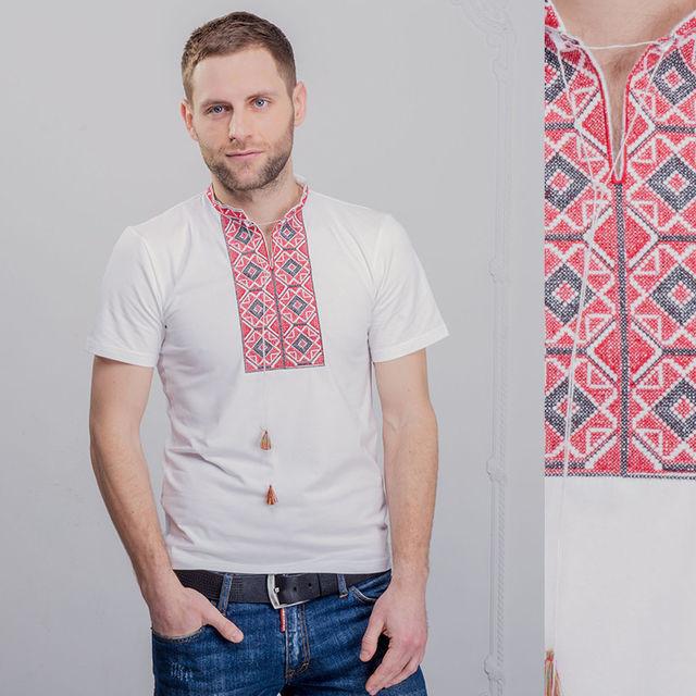 Мужские вышитые футболки с коротким рукавом