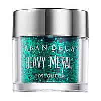 Рассыпчатые блестки для макияжа Urban Decay Heavy Metal Loose Glitter Loaded изумрудный зеленый, фото 1