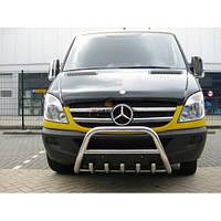 Mercedes Sprinter 2006+ и 2013+ гг. Кенгурятник WT003 (нерж.) 60мм, без надписи