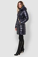 Жіноча тепла зимова водонепроникна куртка з великим відкладним капюшоном і поясом 90110/4, фото 1