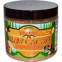 SALE, Какао порошок необработанный, Raw Cacao,  Fun Fresh Foods, 140 г
