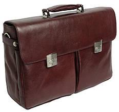 Большой деловой портфель из кожи Sheff S5003 коричневый