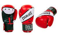 Перчатки боксерские PU ELAST BO-0221-R SUPER-STAR (р-р 10-12oz, красный)