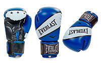 Перчатки боксерские PU ELAST BO-0221-B SUPER-STAR (р-р 10-12oz, красный)