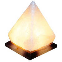 """Cертифицированный соляной светильник  """"Пирамида"""" 5-6кг с обычной лампочкой из солотвинской соли """"Соликом"""""""