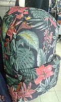 Pюкзак  модный молодежный черный цветы