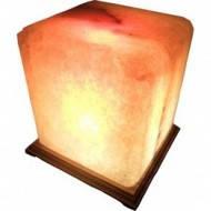 """Cертифицированный соляной светильник """"Квадрат"""" 9-10 кг с цветной лампочкой из солотвинской соли """"Соликом"""""""