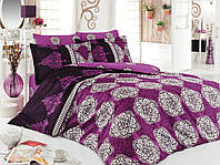 Двуспальное евро постельное белье из ранфорса Majoli Bahar teksil Alonzo v3