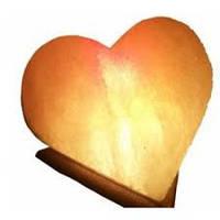"""Cертифицированный соляной светильник """"Сердце"""" 4-5кг с цветной лампочкой из солотвинской соли """"Соликом"""""""