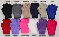 №402 Перчатки №2 однотонные 6-9 лет. Разные цвета., фото 1