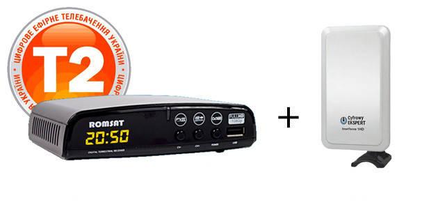 Т2 Комплект Romsat T2050+SmartTenne 1HD, фото 2