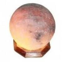 """Cертифицированный соляной светильник   """"Шар"""" 7-8 кг с белой лампочкой из солотвинской соли """"Соликом"""""""