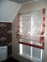 Римская штора для мансардного окна