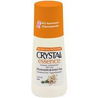 Роликовый дезодорант Crystal Essence с ароматом ромашки и зеленого чая