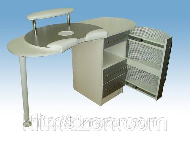 Маникюрный стол А-2 с вытяжкой