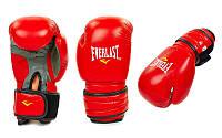 Перчатки боксерские Кожа ELAST MA-4006E-R (р-р 10-12oz, красный)