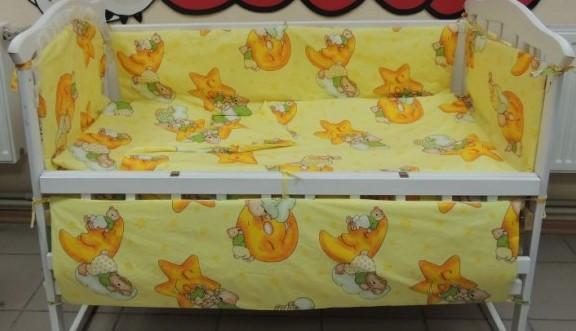 Комплект детского постельного белья Мишки 7 в 1 жёлтый
