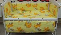Комплект детского постельного белья Мишки 7 в 1 жёлтый, фото 1