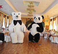 Идея для прибыльного бизнеса! Пневмокосюм Панда и Белый Медведь