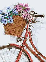 Раскраска на холсте без коробки Идейка Цветочная прогулка (KHO2022) 30 х 40 см