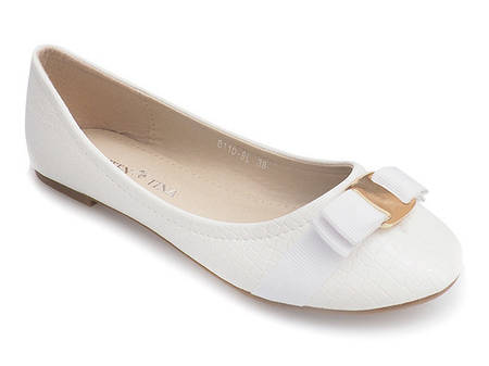 Женские балетки FARRAN  White