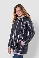 Зимняя теплая водонепроницаемая женская куртка со съемным капюшоном на двойном синтепоне 90117