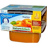 SALE, Детское пюре из персикоа, (NatureSelect), первая еда, Gerber, 2 шт. по 71 г