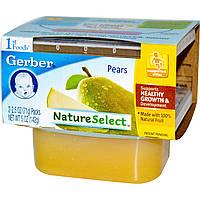 SALE, Детское пюре из груш, (NatureSelect), первая еда, Gerber, 2 шт. по 71 г
