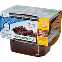 Детское пюре из чернослива, (NatureSelect), первая еда, Gerber, 2 шт. по 71 г
