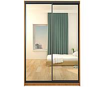 Двухдверные шкафы-купе 1000х450 h2100/зеркало+зеркало (МебельСтар)