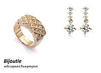 Комплект DORIS GOLD ювелірна біжутерія золото 18к декор кристали Swarovski