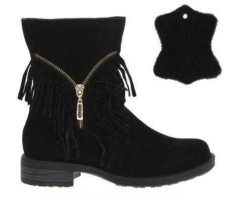 Женские ботинки NELDA Black натуральная кожа