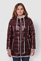 Зимова тепла водонепроникна жіноча куртка зі знімним капюшоном на подвійному синтепоні 90117/3, фото 1