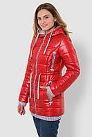 Зимняя теплая водонепроницаемая женская куртка со съемным капюшоном на двойном синтепоне 90117/4, фото 1