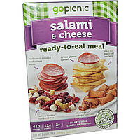 GoPicnic, Ready-to-Eat Meals, Salami & Cheese, 3.7 oz.
