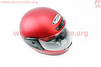 Шлем закрытый HF-101 S- КРАСНЫЙ матовый