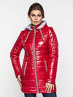Зимняя удобная длинная женская теплая водонепроницаемая стеганая куртка на двойном синтепоне 90118
