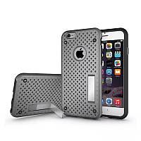 Чехол для iPhone 6/6S Plus - HPG Dot 2 in 1 с подставкой, серебристый